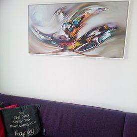 Klantfoto: The Secret van Gena Theheartofart, op canvas