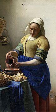 Die Milchmagd, Johannes Vermeer (vertikaler Schnitt)