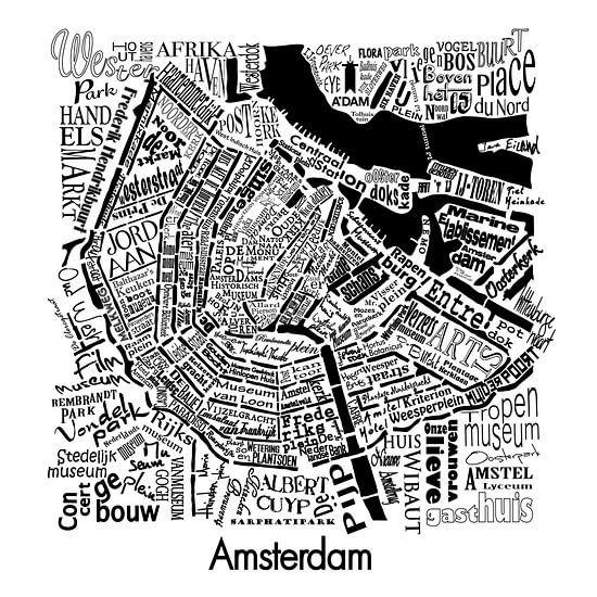 Plattegrond Amsterdam in woorden