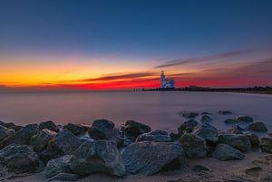 Le phare de Marken au lever du soleil sur Gea Gaetani d'Aragona