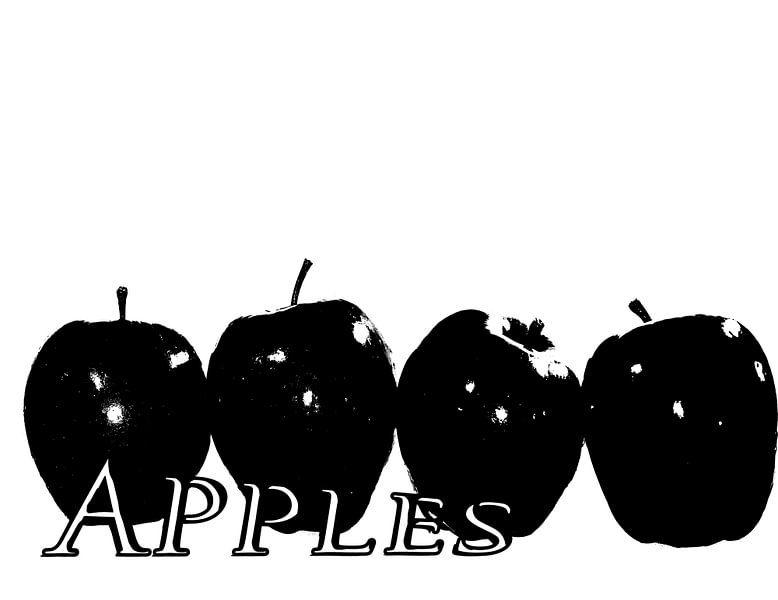 Black Apples van Rosi Lorz