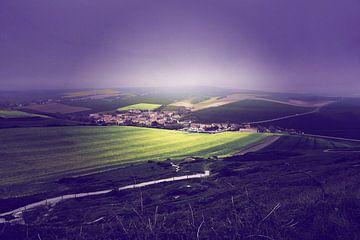 "Ghost town France ""Landscape"" van Thijs GROENHUIS"