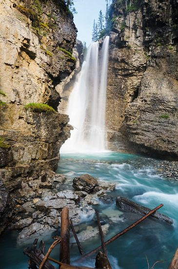 Johnston Canyon waterval van Joris Pannemans - Loris Photography