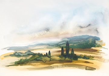 Toscaans platteland van Achim Prill