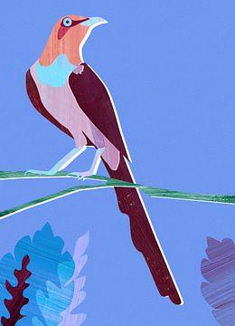Purple Bird sur Goed Blauw