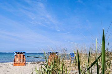 Strandstoelen in Glowe, Schaabe, Rügen van GH Foto & Artdesign
