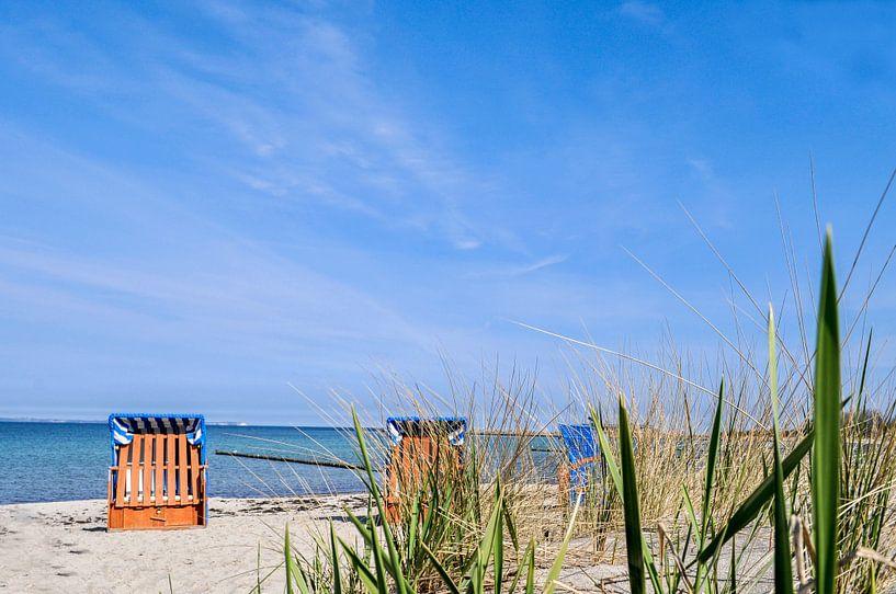 Strandkörbe in Glowe, Schaabe, Rügen von GH Foto & Artdesign