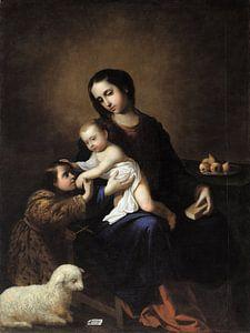Die Jungfrau und das Kind mit dem Kind Johannes der Täufer, Francisco de Zurbarán