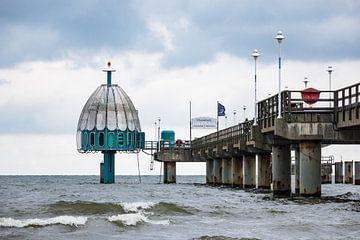 Seebrücke in Zinnowitz auf der Insel Usedom von Rico Ködder