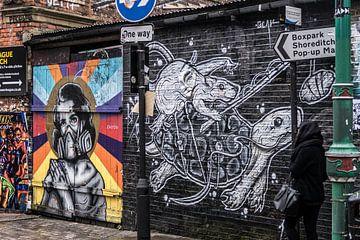 Straat in Shoreditch / Streetlife in shoreditch van