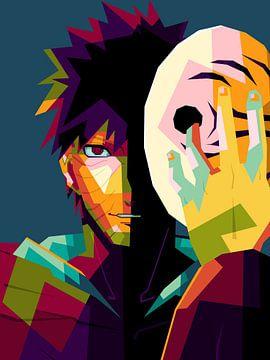 Anime uchiha obito van miru arts