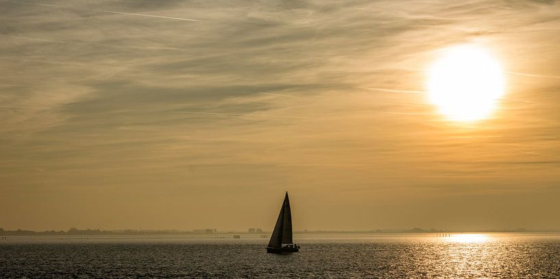 Zeilboot op de oosterschelde van Thomas Lang