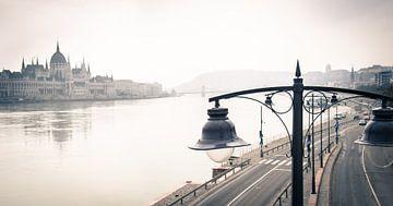 Bâtiment du Parlement de Budapest sur le Danube sur Ellis Peeters