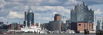 Panorama de la ligne d'horizon de Hambourg sur Jonas Weinitschke