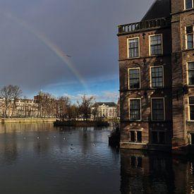 Regenboog op het Binnenhof van Jan Kranendonk