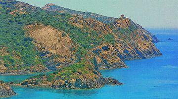 Sardinië - Kustlijn tussen Alghero en Bosa van Dirk van der Ven
