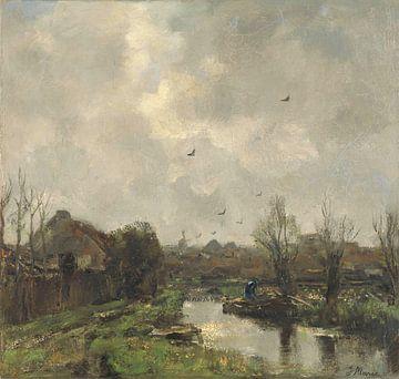 Paysage près de La Haye, Jacob Maris