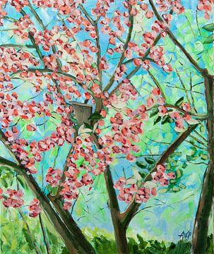 Japanische Kirsche von Antonie van Gelder Beeldend kunstenaar