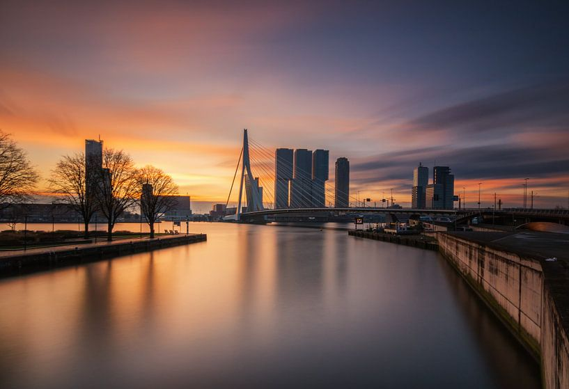 Ochtendgloren in Rotterdam van Ilya Korzelius