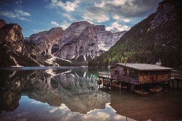 Dolomieten Braies Lake van Jean Claude Castor