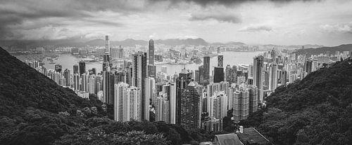 Hongkong vanaf Victoria Peak van
