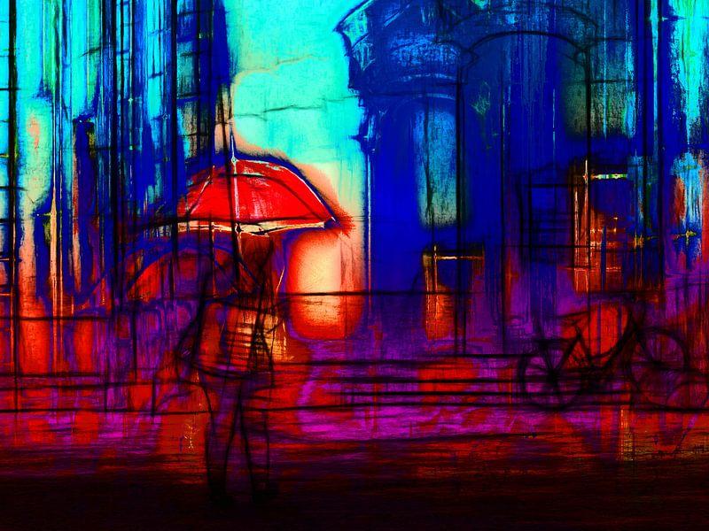Walking through the rain van Gabi Hampe