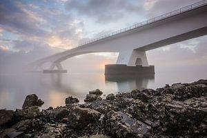 Lever du soleil au pont de Zeelandbrug