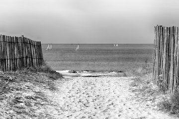 Die Straße zum Strand von Mark Bolijn