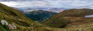 Panoramafoto van Ben Nevis trail, Fort William, Schotland van Paul van Putten