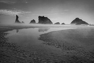 Aufkommender Nebel am Brandon Beach Oregon von Charlotte Bakker
