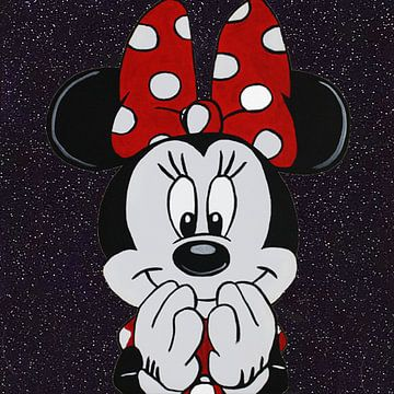 Minnie Mouse Das Leben ist schön von Kathleen Artist Fine Art