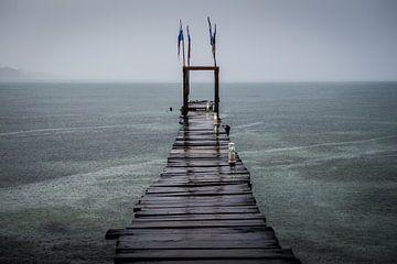 Caribische steiger Panama van Roel Beurskens