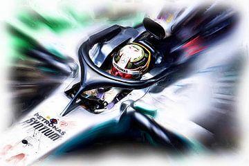 Lewis Hamilton #44 van Jean-Louis Glineur alias DeVerviers