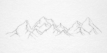 Bergkette von beangrphx Illustration and paintings