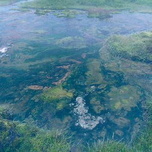 Dampend water in Landmannalaugar van