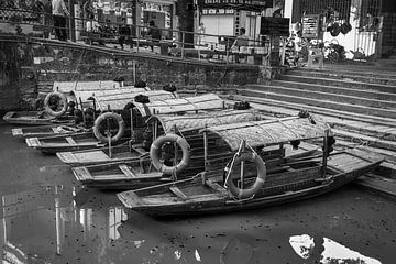 Rondvaartbootjes Feng Jian Canal Town, China