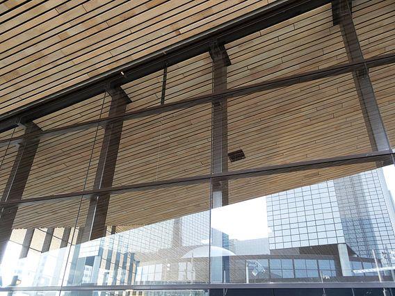 Rotterdam CS: weerspiegeling NN-gebouw van MoArt (Maurice Heuts)