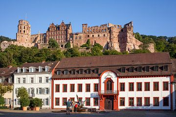 Kasteel en Karlplatz , Oude Stad, Heidelberg, Heidelberg van Torsten Krüger
