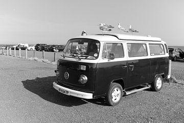 Volkswagen busje met meeuwen in Zuid Engeland van Rob van Dam