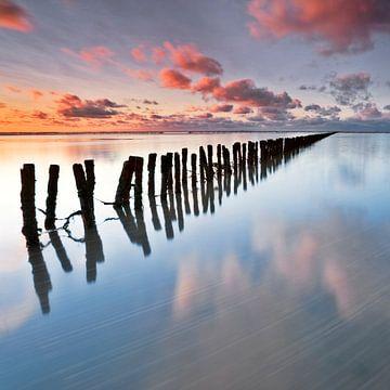 Coucher de soleil Pays Bas sur Peter Bolman