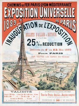 Plakat der Weltausstellung von 1889 von Atelier Liesjes