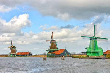 Die Zaanse Schans, die Niederlande von Richard van der Woude