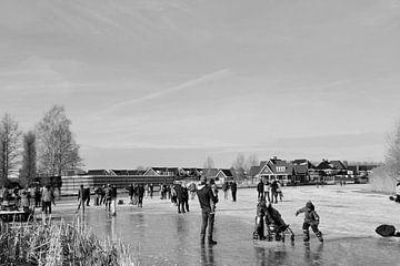 Schlittschuhlaufen im Alblasserwaard von Consala van  der Griend