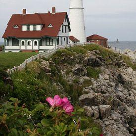 Historischer Cape Elizabeth Leuchtturm - Historic Cape Elizabeth Lighthouse von Christiane Schulze