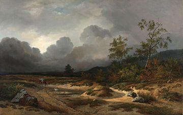 Landschap bij naderend onweer, Willem Roelofs