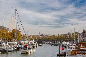Eén van de havens in Dordrecht (Zuid-Holland) van