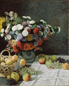 Nature morte aux fleurs et aux fruits, Claude Monet sur