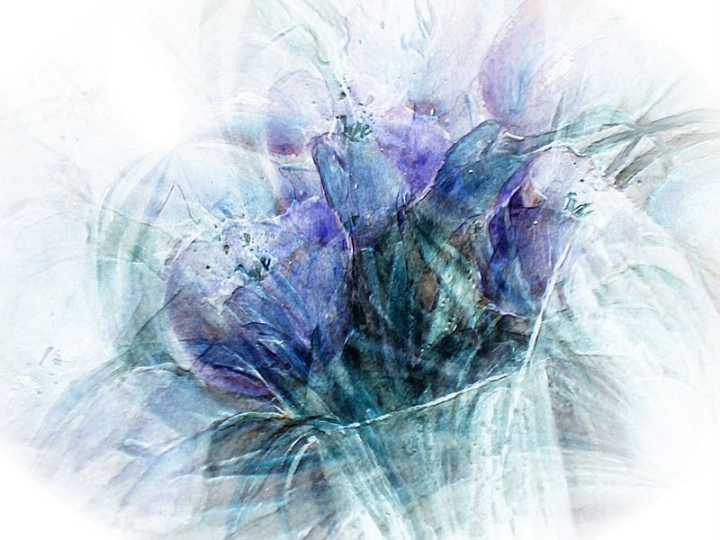 tulpen abstract, van Christine Nöhmeier