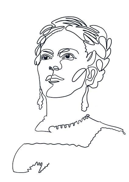 Die Augen von Frida von christine b-b müller