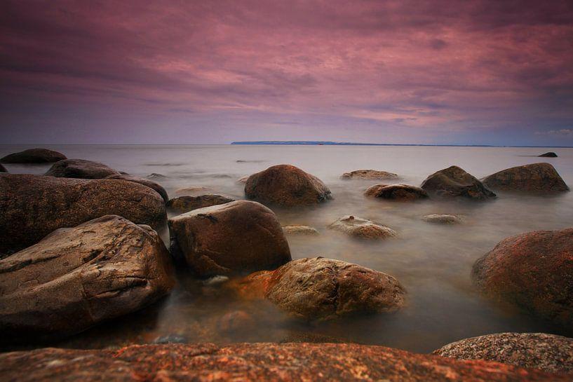 Steine am Ufer der Ostsee von Frank Herrmann